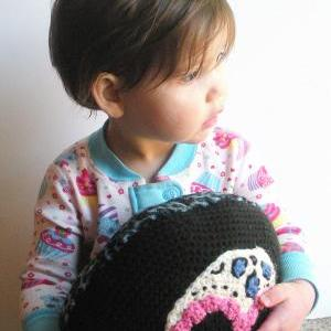 Sugar Skull Pillow, decorative croc..