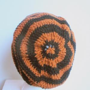 Skull Slouch in Pumpkin Orange and ..