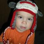 Custom Sock Monkey Hat , made to or..
