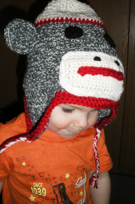 Custom Sock Monkey Hat , made to order