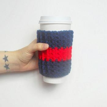 New England Team Coffee Cozy.